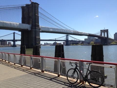 Brooklyn and Manhattan Bridge on other day