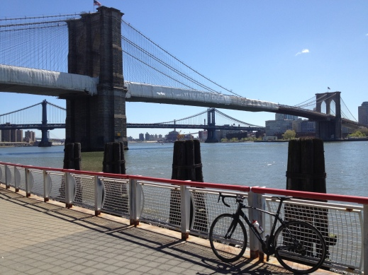 Brooklyn and Manhattan Bridge on other day
