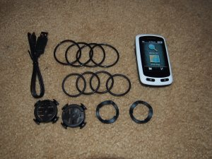 For just the right amount of tech in your rides, the Garmin Edge Touring comes with a USB Cable, head unit and enough rings and mounts to set up two bikes.