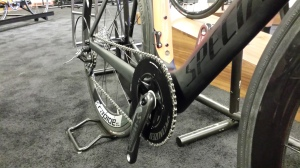 "The 2015 Venge LR reportedly  refers to ""Lunch Race"" - Erik's crack team of staff at the Dealer Event wouldn't give more info than a couple close up shots, but this version is running a 1x11 drivetrain for pure go power."