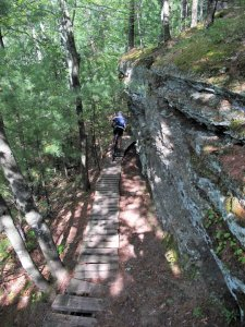 Levis-Trow Mounds in Wisconsin offers beautiful vistas and miles of singletrack.