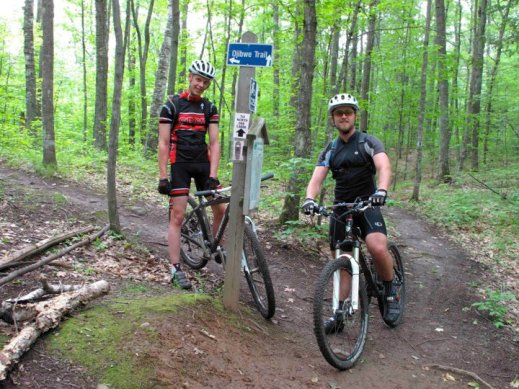 Erik's Employees riding the CAMBA trails.