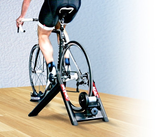 Some cyclists prefer trainers to rollers.