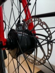 The Shimano Dynamo hub charges the attached Supernova lights or your USB compatible device.