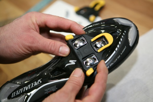 S-works shoe with Look cleats