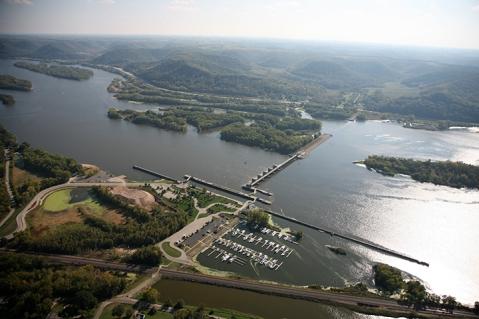 Lock and Dam 6, Trempealeau, Wis. Upper Mississippi River mile 714.1